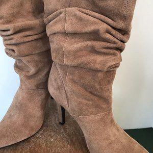 Kelly & Katie Tan Leather Slouch Heels